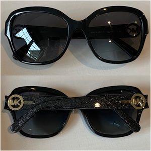 Michael Kors Tabitha III Black Glitter Sunglasses